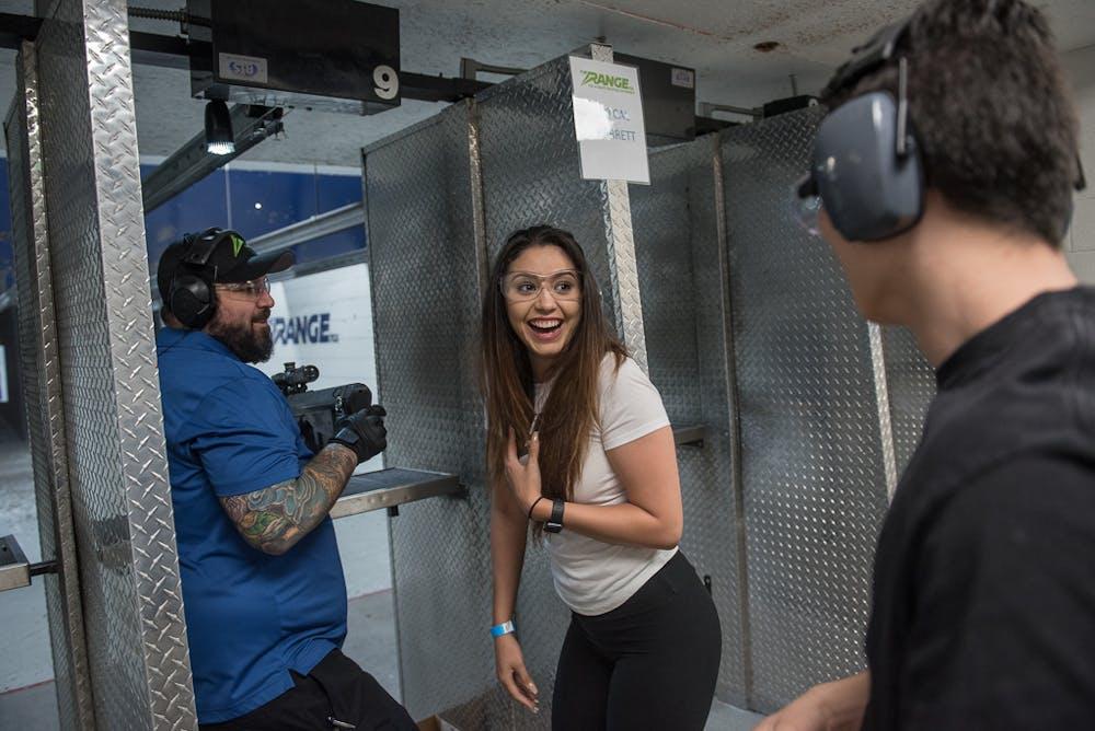 Reaction after shooting guns at Range 702