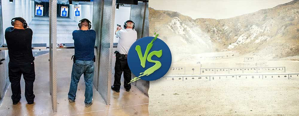 Indoor shooting range vs outdoor shooting range