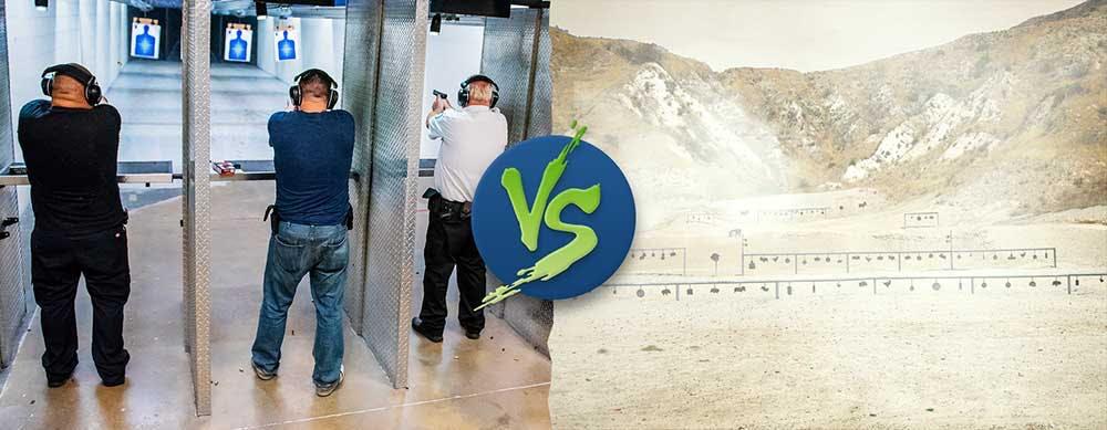 Indoor shooting range vs outdoor shooting range