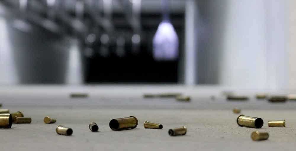 Bullet casings on the floor
