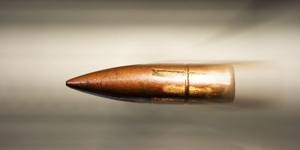 bullet traveling