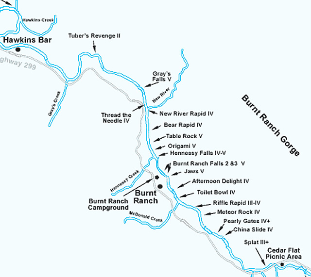 Burnt Ranch Gorge Map