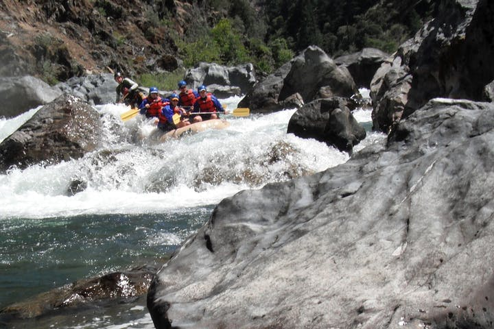 Whitewater rafting in Burnt Ranch Gorge