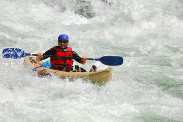 Kayaking in whitewater