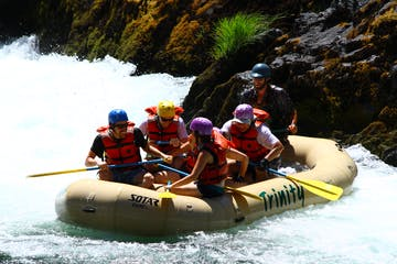 White water rafting on the Trinity River