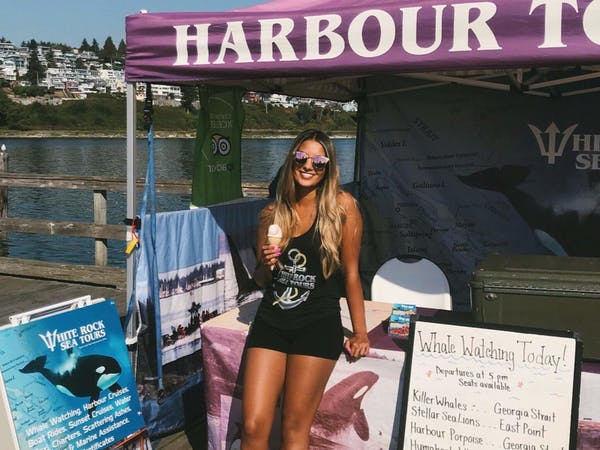 Cheyenne at White Rock Sea Tours booth