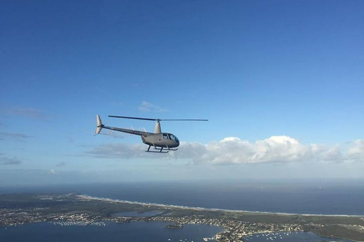 Helicopter tour above Newastle
