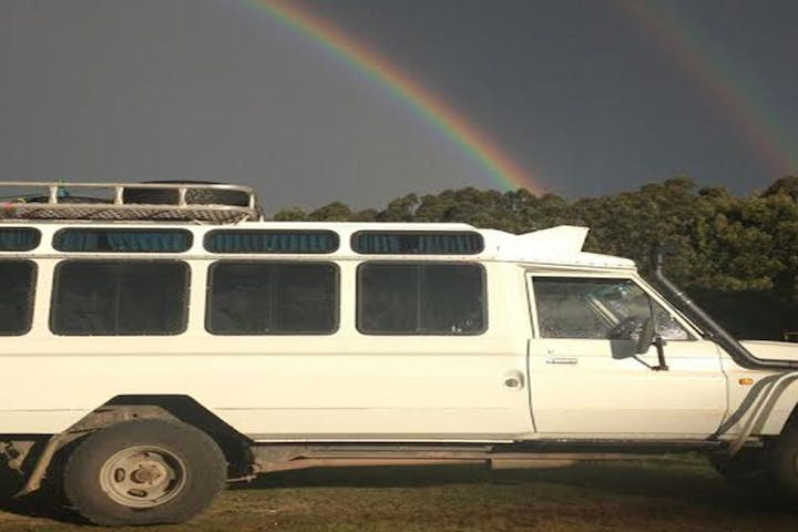 The Wombat Discovery Tour bus available for hire