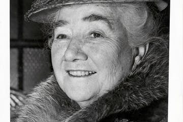 Anne Bauchens wearing a hat and smiling at the camera