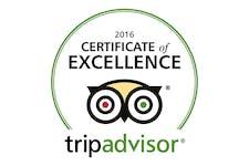 TripAdvisor Cert of Excellence 2016