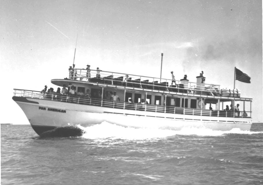Pan American II en route to Ship Island