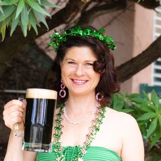 irish lass on the San Diego brewery tour