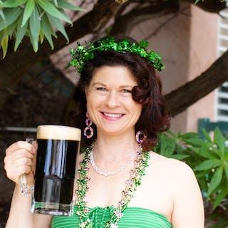 irish lass on the San Diego brewery tour