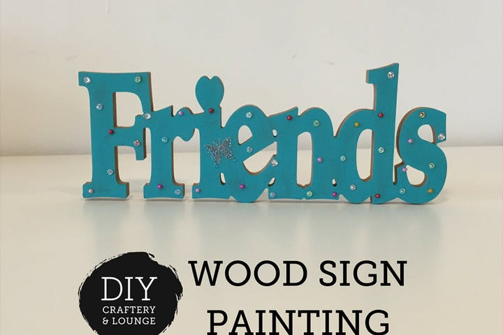 Friends wood sign painting