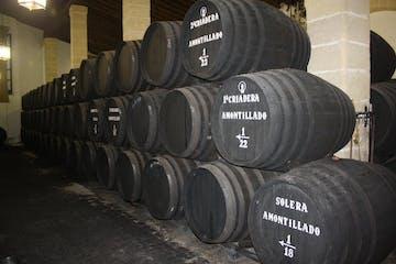 barrels of wine aging