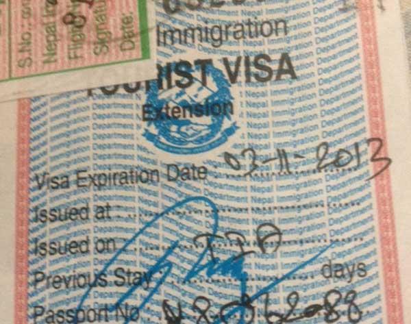 nepal visa extension
