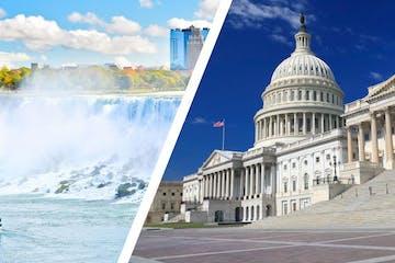 Two Day Combo: One Day Niagara Falls Tour + Washington Tour
