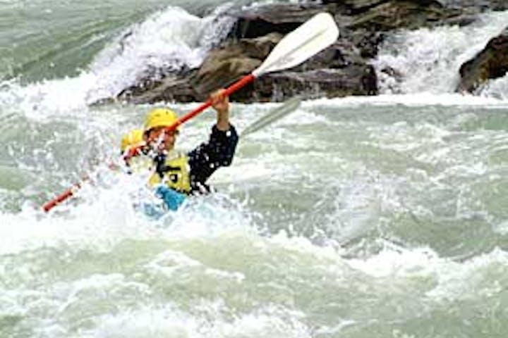 man kayaking bc canada