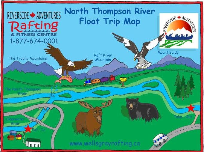 north thompson river float trip map