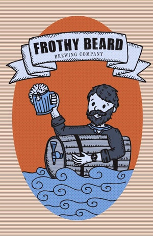 frothy beard brewing logo