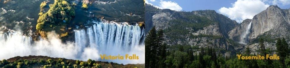 Victoria Falls vs Yosemite Falls