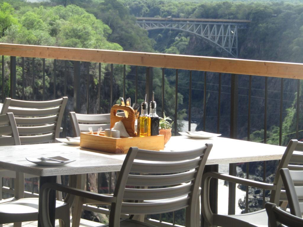 Lookout Cafe Victoria Falls Outdoor Seating Overlooking Batoka Gorge