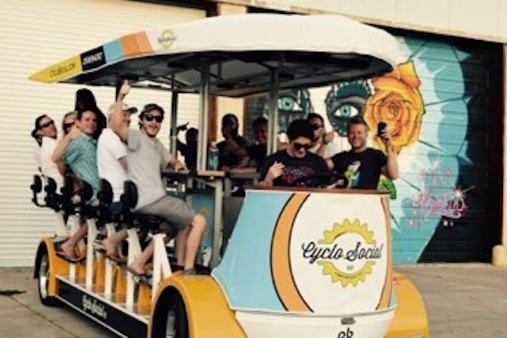 group on CycloFiesta party bike