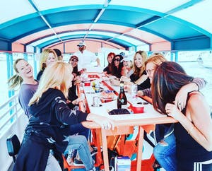 bachelorette party on a boat tour