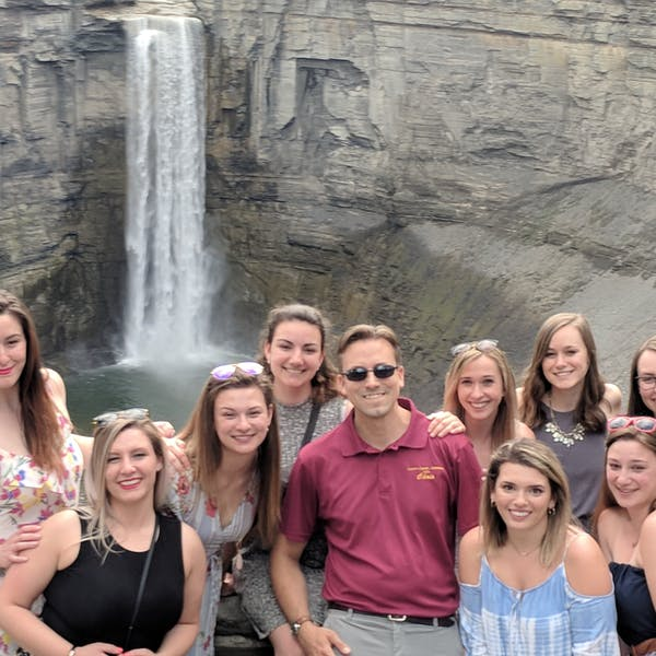 Bachelorettes enjoying Taughannock Falls with Tour Guide