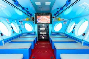 The inside of the Nautilus semi-submarine