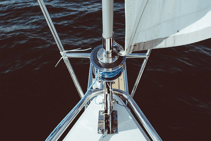 port of a sailboat on the water
