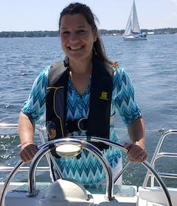wheel of a sailboat