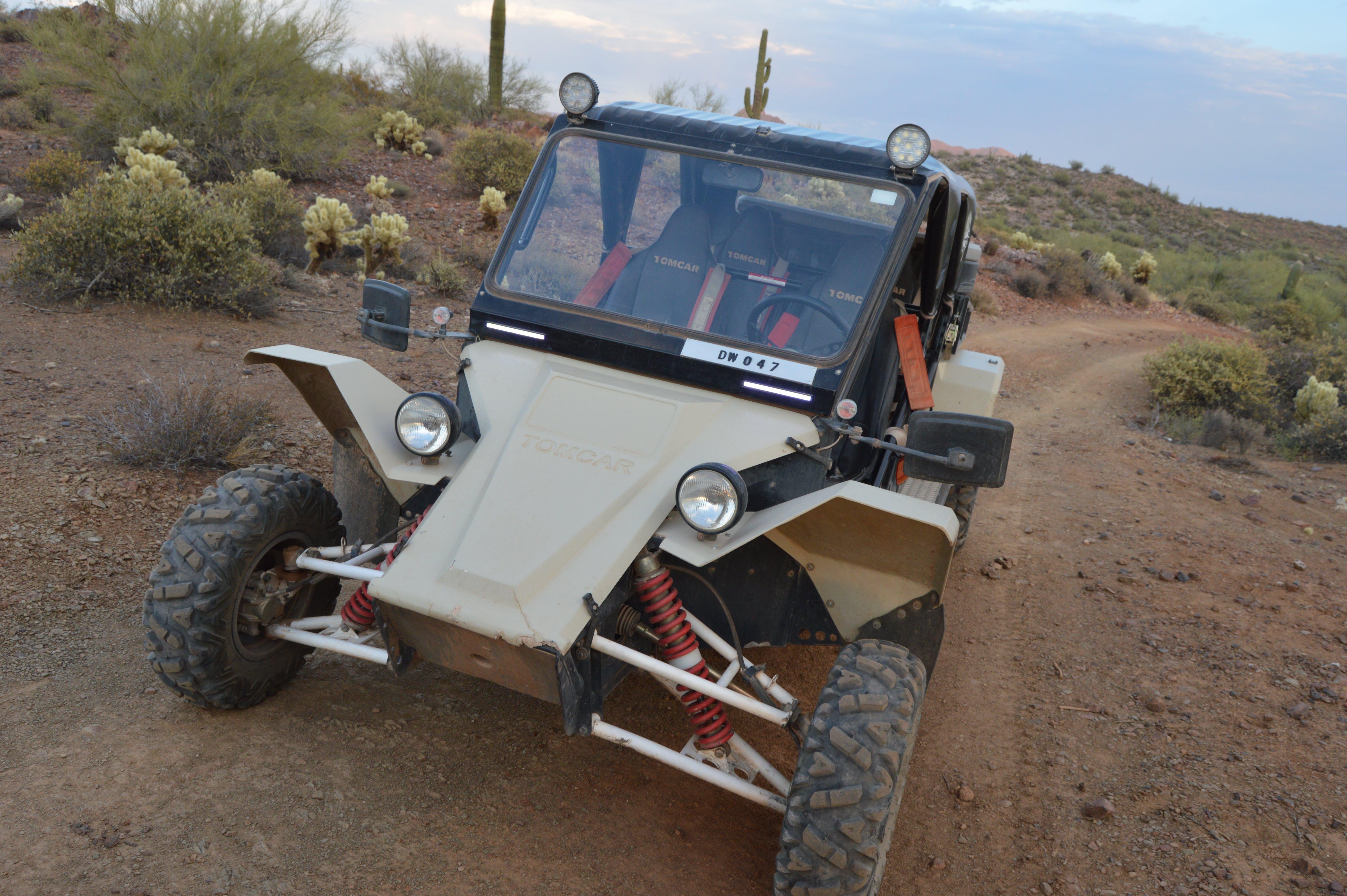 Tomcar ATV in Arizona terrain