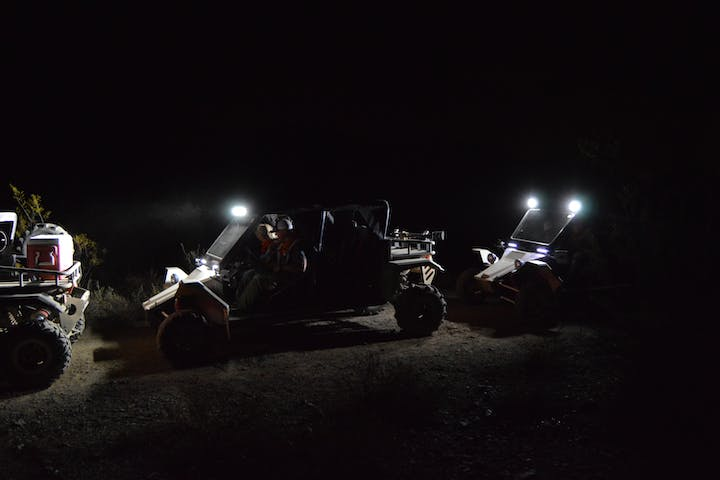 Tomcar desert night adventure with Desert Wolf Tours