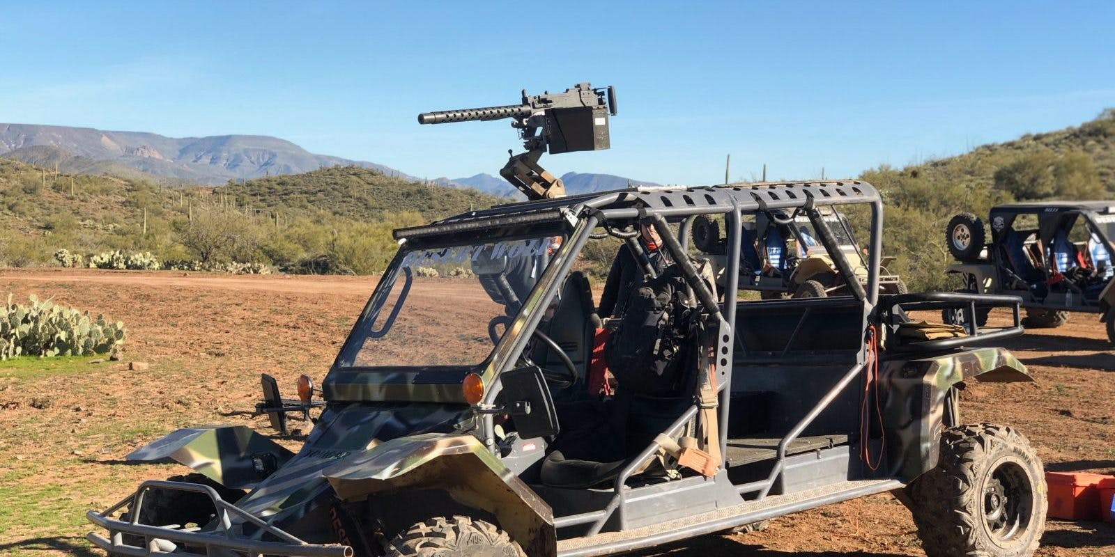 Desert Wolf Browning machine gun on atv phoenix scottsdale