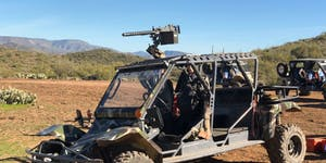 Desert Wolf Browning machine gun on atv phoenix scottsdale