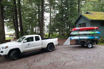 sebago trails delivery truck