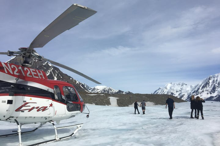 Helicopter at the Glacier Expedition