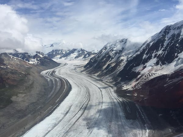 Road to the glacier expedition