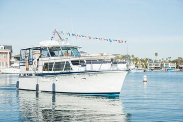 Luxury Yacht Journey cruising Huntington Harbour CA