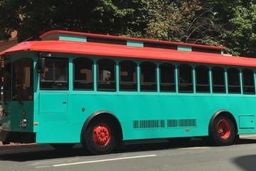 Private Charter: MISS SALEM Trolley (Teal) Image 1