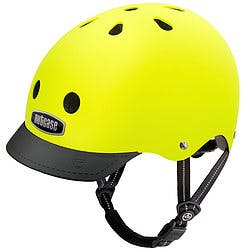 Neon yellow Nutcase helmet