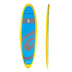 Glide paddleboard 11-foot baby blue with yellow trim