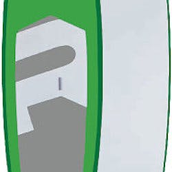 Riviera: Selected Soft Top 11'6'' green paddleboard