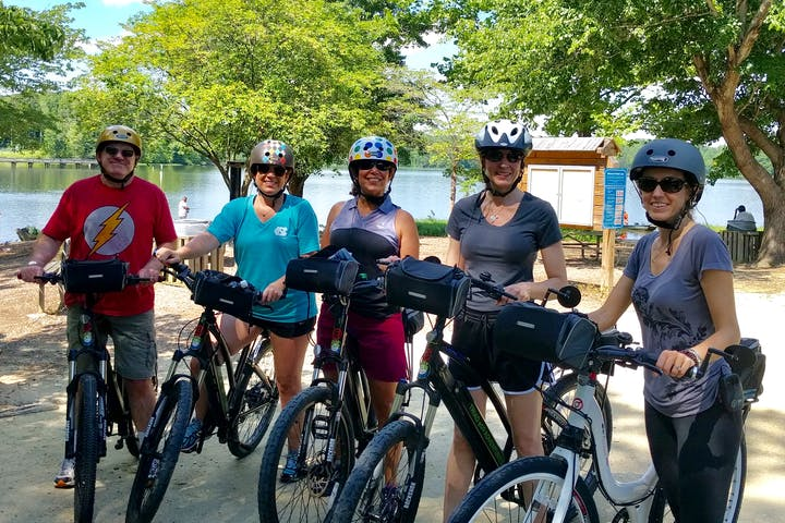 Group Standing with e-Bikes