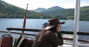 Alison on boat
