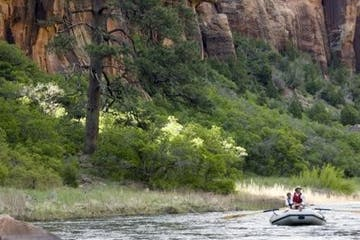 people rafting down the dolores river in colorado