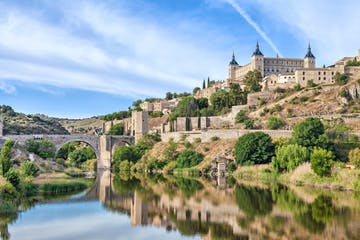 a castle on Toledo over a body of water