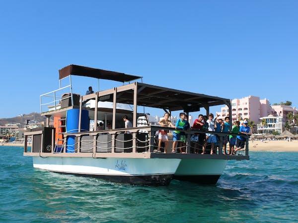 family on catamaran cabo san lucas