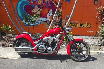 Honda Fury in front of Fun in Sun Rentalz